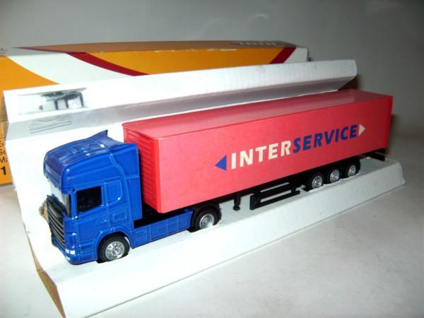 "Scania Koffersattelzug""Interservice"""