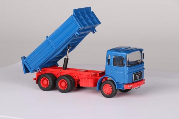 MAN F8 Diesel 3 achs Dreiseitenkipper blau