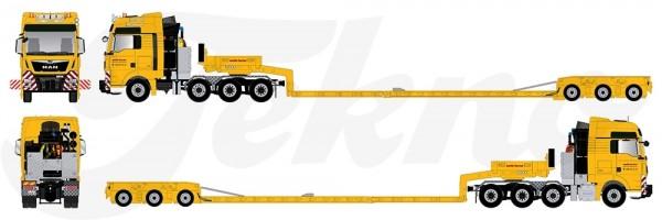 MAN TGX XXL 8x4 mit 3achs Tieflader Goldhofer - Welti Furrer - CH -
