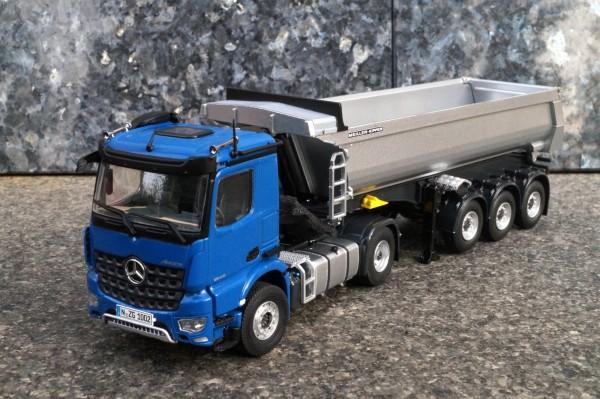 """Mercedes Benz Arocs Meiller Kippsattelzug """"Blau"""
