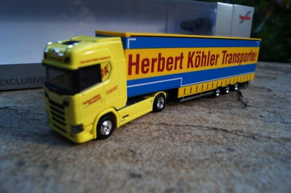 "Scania CS 22 Sattelzugmaschine mit Kofferauflieger "" Herbert Köhler Transporte"""