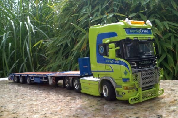 """Scania Streamline 3achs mit 3achs Flachbett Tieflader """"Nordic Crane"""""""