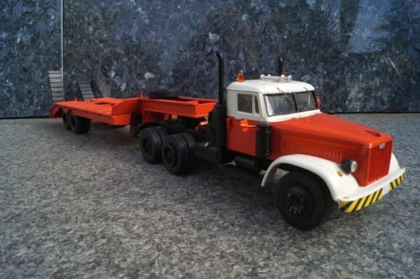 Scania 3achs mit 2 achs Tieflader