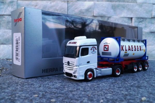 """Mercedes Benz Actros Streamspace Swapcontainer Sattelzug """"Klaeser _Herten"""""""