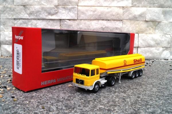 "MAN F8 Benzintank-Sattelzug ""Shell"""