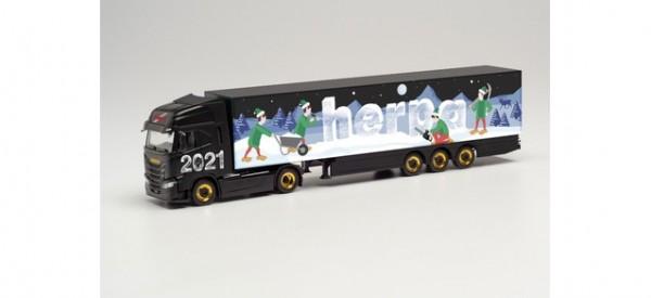 "Iveco S-Way Koffer-Sattelzug ""Herpa Weihnachtsmodell 2021"""
