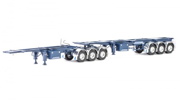 """Maxitrans Freighter Skel B Double Combination Trailer - Trailer Only """"dunkelblau"""
