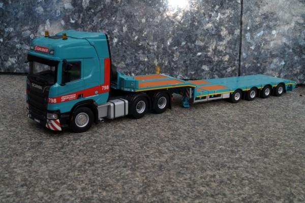 Scania R HL 6x4 mit 4achs Semi-Tieflader - Gruber - I