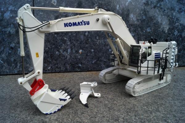 Komatsu PC 1250 Bagger mit Lenhoff Schnellwechsler und Reißzahn weiß