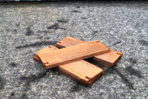 Zubehör Baggermatratzen aus Holz 5 Stück