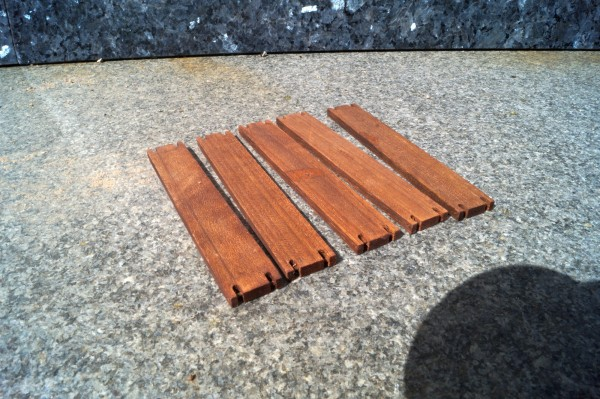 Zubehör 5x Baggermatratzen Holz
