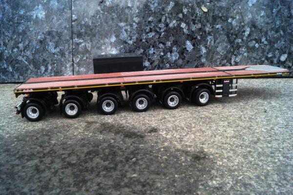 Zubehör Nooteboom 6achs Ballast Auflieger mit 10FT Container grau
