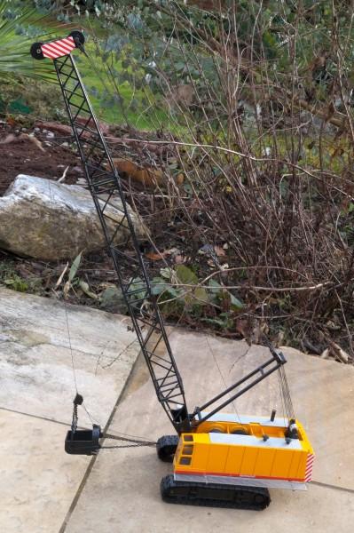 Liebherr 670 Seilbagger mit Schleppschaufel