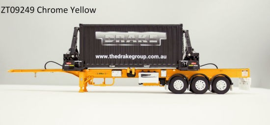 Box Loader Side Loading Trailer with Container.yellow
