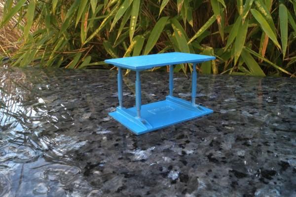 Zubehör 1x Schalung / Verbau klein blau