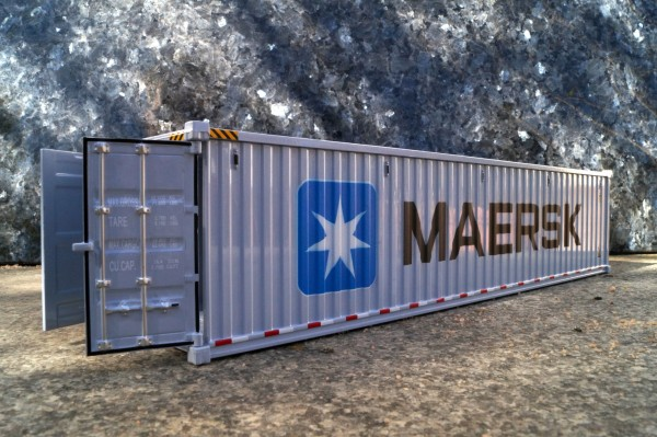 "Zubehör 40ft See Container ""Maersk grau"""