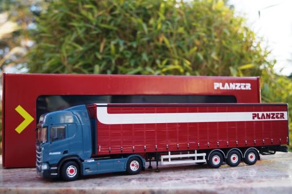 """Scania NG R-serie Highline mit Schiebeplanen-Auflieger """" Planzer"""""""