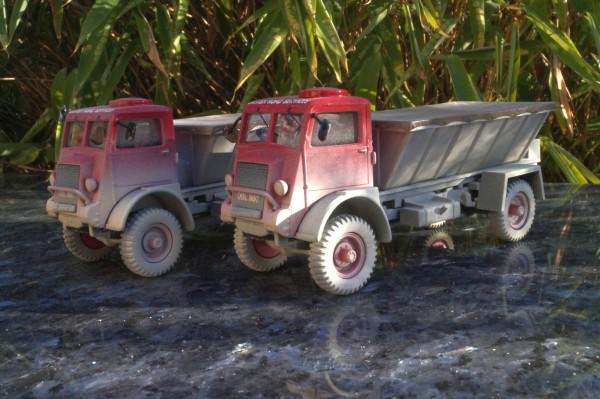 """2x Bedford QLD 4x4 Kalkstreuer """"Britisch Road Service"""""""