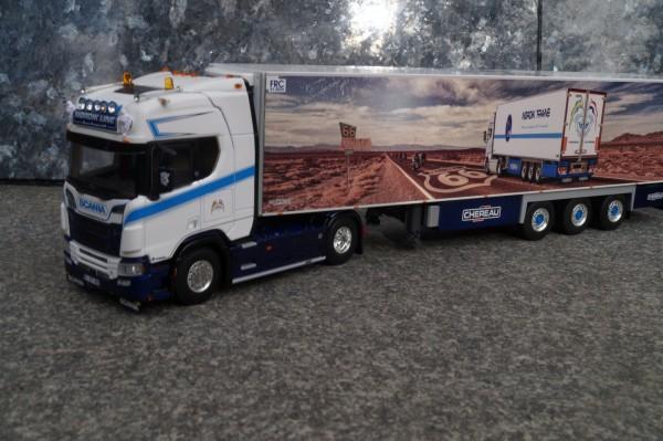 "Scania CR520 V8 Highline mit Chereau 3achs Kühlauflieger ""Nordic Line ""F"""
