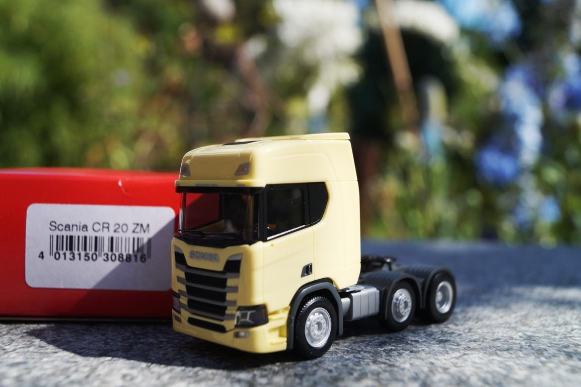 1//87 Herpa Scania CR 20 HD 6x2 Zugmaschine ZM hellgelb  308816