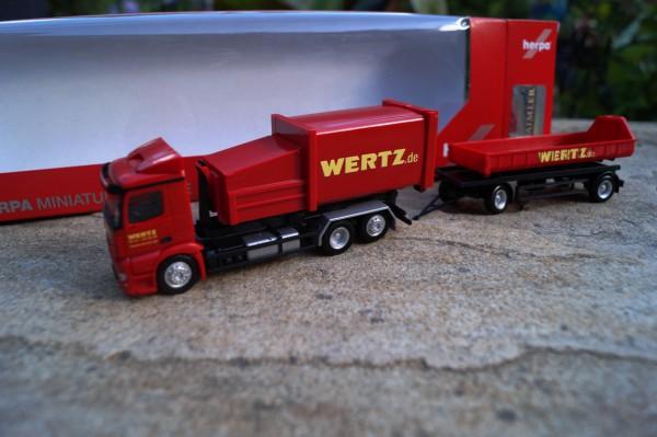"""Mercedes-Benz Antos Pressmüllcontainer-Hängerzug """"Wertz Aachen"""""""